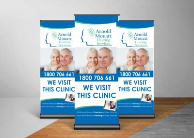 Arnold Mault Hearing Pull up banner