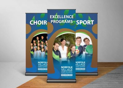 Norfold School Pull up banner