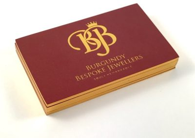 Speciality Business Cards Gold Foil 2
