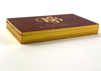 Speciality Business Cards Gold Foil