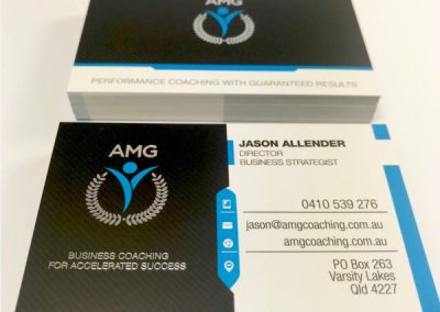 Speciality Business Cards Silver Foil